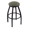 "802 Misha 30"" Bar Stool with Black Wrinkle Finish, Axis Grove Seat, and 360 swivel"