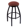 "802 Misha 25"" Counter Stool with Black Wrinkle Finish, Axis Paprika Seat, and 360 swivel"