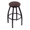 "Holland Bar Stool Co. 802 Misha 25"" Counter Stool with Black Wrinkle Finish, Axis Truffle Seat, and 360 swivel"