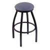 "Holland Bar Stool Co. 802 Misha 30"" Bar Stool with Black Wrinkle Finish, Rein Bay Seat, and 360 swivel"