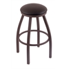 "802 Misha 30"" Bar Stool with Bronze Finish, Allante Espresso Seat, and 360 swivel"