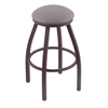 "802 Misha 30"" Bar Stool with Bronze Finish, Allante Medium Grey Seat, and 360 swivel"