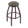 "802 Misha 25"" Counter Stool with Bronze Finish, Axis Grove Seat, and 360 swivel"