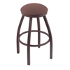 "802 Misha 25"" Counter Stool with Bronze Finish, Axis Willow Seat, and 360 swivel"
