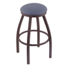 "Holland Bar Stool Co. 802 Misha 25"" Counter Stool with Bronze Finish, Rein Bay Seat, and 360 swivel"