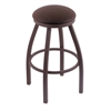 "802 Misha 36"" Bar Stool with Bronze Finish, Rein Coffee Seat, and 360 swivel"