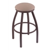 "802 Misha 30"" Bar Stool with Bronze Finish, Rein Thatch Seat, and 360 swivel"
