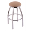 "802 Misha 30"" Bar Stool with Chrome Finish, Allante Beechwood Seat, and 360 swivel"