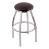 "802 Misha 25"" Counter Stool with Chrome Finish, Allante Espresso Seat, and 360 swivel"
