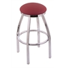 "802 Misha 36"" Bar Stool with Chrome Finish, Allante Wine Seat, and 360 swivel"