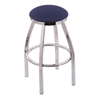 "802 Misha 30"" Bar Stool with Chrome Finish, Axis Denim Seat, and 360 swivel"