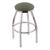 "802 Misha 25"" Counter Stool with Chrome Finish, Axis Grove Seat, and 360 swivel"