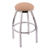 "802 Misha 25"" Counter Stool with Chrome Finish, Axis Summer Seat, and 360 swivel"