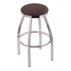 "Holland Bar Stool Co. 802 Misha 25"" Counter Stool with Chrome Finish, Axis Truffle Seat, and 360 swivel"