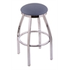 "802 Misha 30"" Bar Stool with Chrome Finish, Rein Bay Seat, and 360 swivel"
