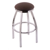 "802 Misha 36"" Bar Stool with Chrome Finish, Rein Coffee Seat, and 360 swivel"