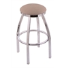 "802 Misha 25"" Counter Stool with Chrome Finish, Rein Thatch Seat, and 360 swivel"