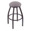 "802 Misha 30"" Bar Stool with Pewter Finish, Allante Medium Grey Seat, and 360 swivel"
