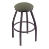 "Holland Bar Stool Co. 802 Misha 30"" Bar Stool with Pewter Finish, Axis Grove Seat, and 360 swivel"