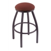 "802 Misha 30"" Bar Stool with Pewter Finish, Axis Paprika Seat, and 360 swivel"