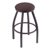 "802 Misha 25"" Counter Stool with Pewter Finish, Axis Truffle Seat, and 360 swivel"