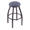 "802 Misha 30"" Bar Stool with Pewter Finish, Rein Bay Seat, and 360 swivel"