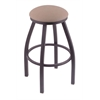 "802 Misha 30"" Bar Stool with Pewter Finish, Rein Thatch Seat, and 360 swivel"