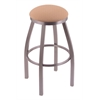 "802 Misha 36"" Bar Stool with Stainless Finish, Axis Summer Seat, and 360 swivel"