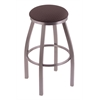 "802 Misha 30"" Bar Stool with Stainless Finish, Axis Truffle Seat, and 360 swivel"