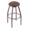 "802 Misha 30"" Bar Stool with Stainless Finish, Axis Willow Seat, and 360 swivel"