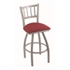 "Holland Bar Stool Co. 810 Contessa 30"" Bar Stool with Anodized Nickel Finish, Allante Wine Seat, and 360 swivel"
