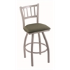 "810 Contessa 36"" Bar Stool with Anodized Nickel Finish, Axis Grove Seat, and 360 swivel"