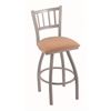 "Holland Bar Stool Co. 810 Contessa 30"" Bar Stool with Anodized Nickel Finish, Axis Summer Seat, and 360 swivel"