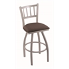 "Holland Bar Stool Co. 810 Contessa 25"" Counter Stool with Anodized Nickel Finish, Axis Truffle Seat, and 360 swivel"