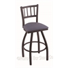 "Holland Bar Stool Co. 810 Contessa 25"" Counter Stool with Black Wrinkle Finish, Rein Bay Seat, and 360 swivel"