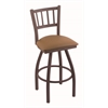 "810 Contessa 36"" Bar Stool with Bronze Finish, Allante Beechwood Seat, and 360 swivel"