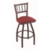 "Holland Bar Stool Co. 810 Contessa 30"" Bar Stool with Bronze Finish, Allante Wine Seat, and 360 swivel"