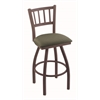"810 Contessa 30"" Bar Stool with Bronze Finish, Axis Grove Seat, and 360 swivel"