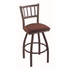 "810 Contessa 30"" Bar Stool with Bronze Finish, Axis Paprika Seat, and 360 swivel"