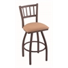 "Holland Bar Stool Co. 810 Contessa 25"" Counter Stool with Bronze Finish, Axis Summer Seat, and 360 swivel"