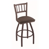 "Holland Bar Stool Co. 810 Contessa 30"" Bar Stool with Bronze Finish, Axis Truffle Seat, and 360 swivel"