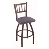 "810 Contessa 30"" Bar Stool with Bronze Finish, Rein Bay Seat, and 360 swivel"