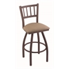"Holland Bar Stool Co. 810 Contessa 25"" Counter Stool with Bronze Finish, Rein Thatch Seat, and 360 swivel"