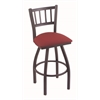 "Holland Bar Stool Co. 810 Contessa 36"" Bar Stool with Pewter Finish, Allante Wine Seat, and 360 swivel"