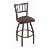 "810 Contessa 30"" Bar Stool with Pewter Finish, Axis Truffle Seat, and 360 swivel"