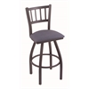 "810 Contessa 36"" Bar Stool with Pewter Finish, Rein Bay Seat, and 360 swivel"