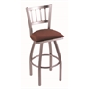 "810 Contessa 36"" Bar Stool with Stainless Finish, Axis Paprika Seat, and 360 swivel"