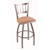 "810 Contessa 30"" Bar Stool with Stainless Finish, Axis Summer Seat, and 360 swivel"