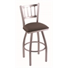 "810 Contessa 30"" Bar Stool with Stainless Finish, Axis Truffle Seat, and 360 swivel"