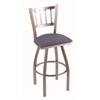 "810 Contessa 36"" Bar Stool with Stainless Finish, Rein Bay Seat, and 360 swivel"